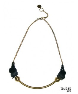 collier SMILY noir