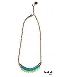 collier MINI NAFOLO turquoise et blanc