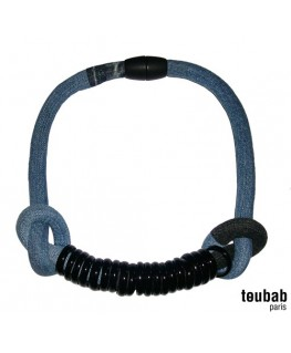 collier TOUMTOUM denim noir