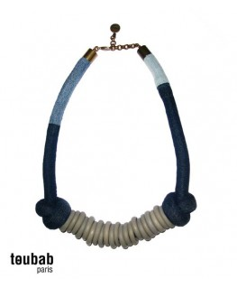 collier TOUMTOUM denim gris
