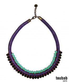 collier MINI PANAMA double violet