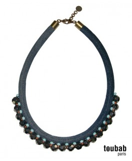 collier MINI PANAMA double jean argenté
