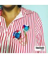 broche TANDEM bleu blanc rouge 2