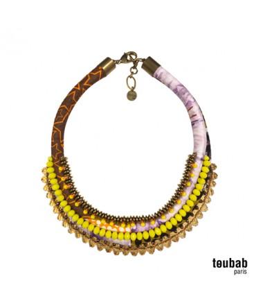 collier PANAMA bazin tie & dye