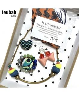 BOX cadeau broches, collier et masque