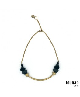 Collier SMILY bazin noir