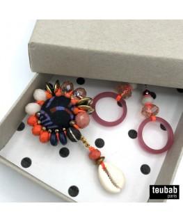 BOX cadeau broche et boucles d'oreilles
