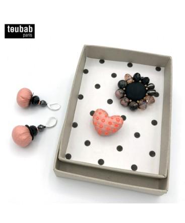 BOX cadeau broches et boucles d'oreilles